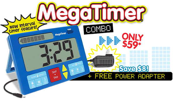 MegaTimer Combo - $59 + Free Power Adapter. Save $8!